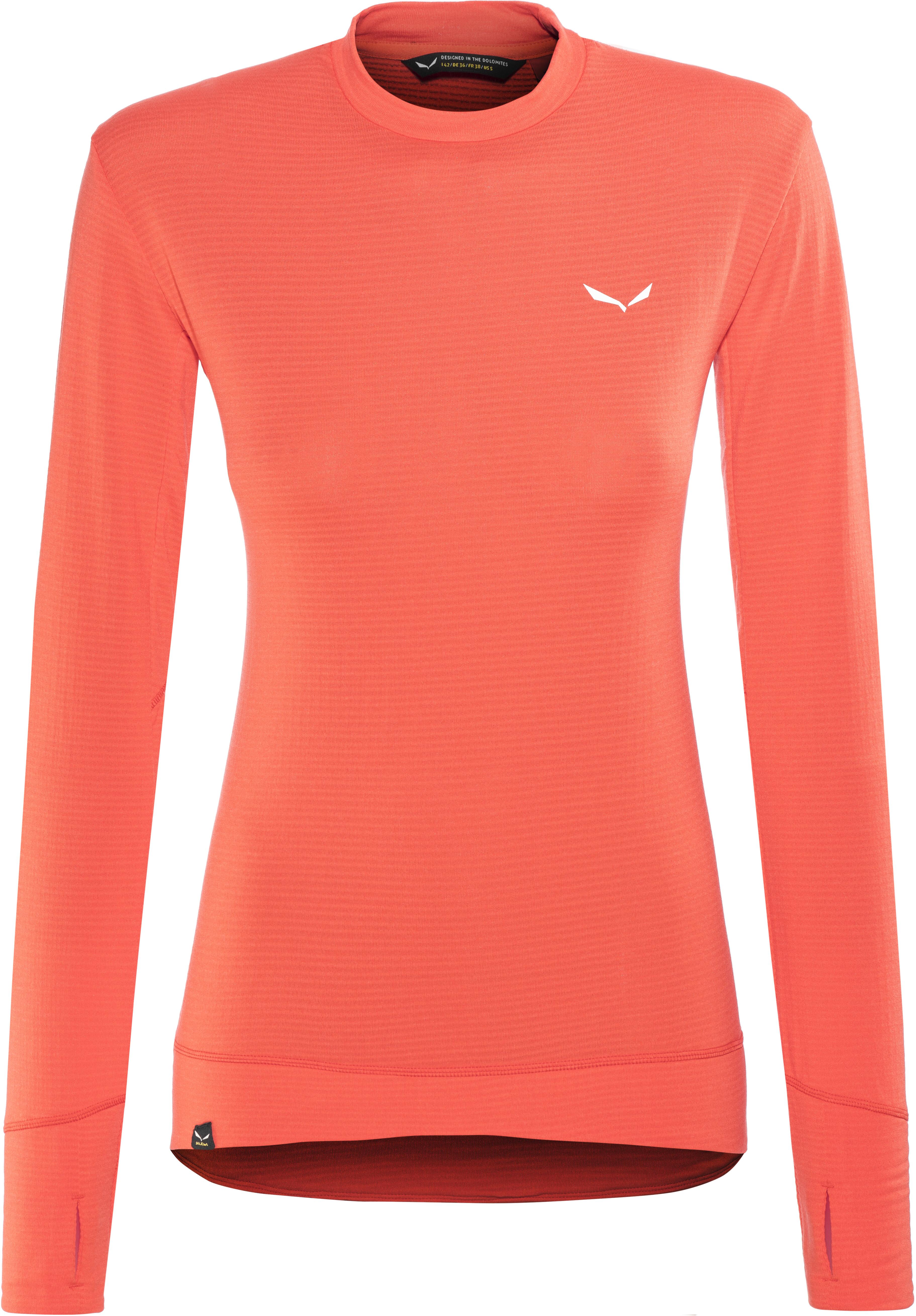 a0efd76d410 Salewa Pedroc PTC - T-shirt manches longues Femme - rouge sur CAMPZ !